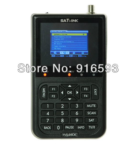 Shipping DHL & FedEx & EMS Hot sale SATLINK WS-6906 DVB-S (Economic Model) FTA Digital Satellite Meter Satellite TV Receiver economic methodology