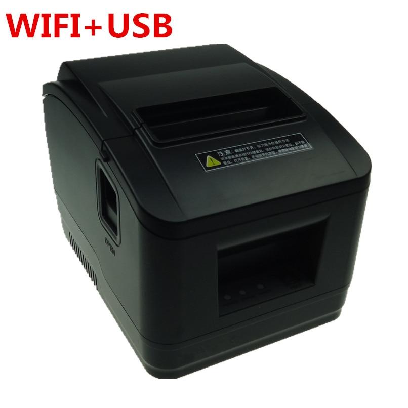 Nouvelle imprimante de connexion WIFI de haute qualité facture de reçu 80mm petite imprimante de point de vente de tickets vitesse d'impression de coupe automatique rapide