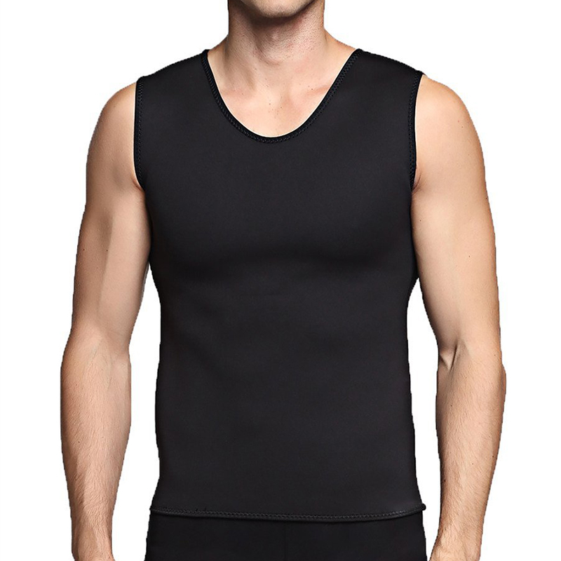 Men Running Vest Sweat Shapers Fitness Tights Tank Top Sleeveless Elastic Gym Male Vest Tee Slim Waist Trainer Corsets Shapewear Sports & Entertainment Running Vests
