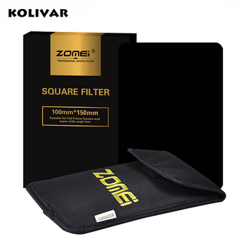 "Квадратный фильтр Zomei 100x150 мм, полностью Серый фильтр ND2/ND4/ND8/ND16 для Cokin Z-Pro Series Lee Hitech 4X6 ""с держателем"