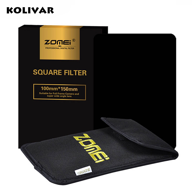 "Zomei 100x150mm Square Filter Full Grey Neutral Density ND2/ND4/ND8/ND16 Filter For Cokin Z-Pro Series Lee Hitech 4X6"" Holder"