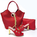 Italian Shoes With Matching Bags Fashion Sandal African Shoe And Bag Set For Party In Women High Quality Heel 11CM  HS16009