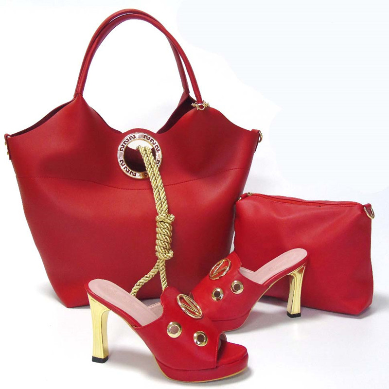 Italian font b Shoes b font With Matching Bags Fashion Sandal African font b Shoe b