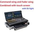 2017 Nova Combinar o Comando Da Asa e Asa Fader de Controle DMX por Monitor de toque Dot2 XL-F Compacto Console de Iluminação até 4096 Canais