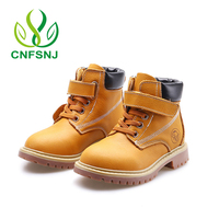 CNFSNJ autumn winter fashion martin boots for children genuine leather shoe baby girl red boot boys blue ankle boot size 21 37