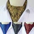 Nuevo Hombre de Poliéster Corbata De Seda Raya de La Vendimia de Cuadrícula Imprimir Patrón de Punto Corbata Ascot Corbata Pañuelo Para El Cuello de Alta Calidad de Negocios TZ169304