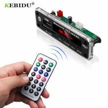 KEBIDU 5V 12V Bluetooth MP3 płytka dekodera WMA moduł Audio kolorowy ekran obsługujący USB SD AUX FM Audio moduł radiowy samochodowy odtwarzacz Mp3