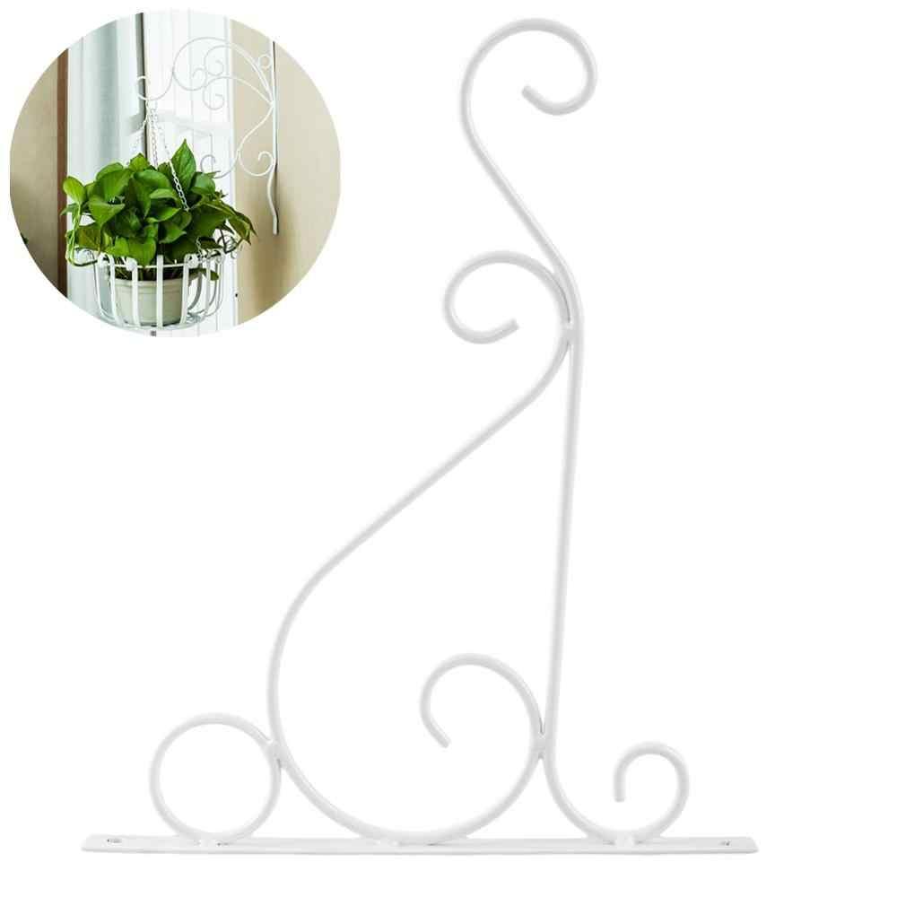 1 Pcs Suporte Suportes de Suspensão Da Flor de Parede Ganchos de Ferro para Vasos de Flores Cesta Do Jardim Gramado Lanterna Luz Gancho Da Planta Jardinagem