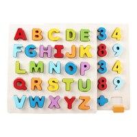 30 CM Baby Alphabet Und Digit Lernen Hand Holzpuzzle Bildung Spielzeug Kind Holz Puzzle Spielzeug Kinder Frühe Pädagogische spielzeug