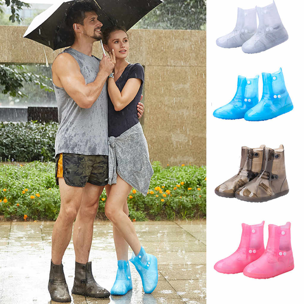 2019 NEW Arrival Unisex shoes woman Rain Boots Shoe Covers Reusable Waterproof Travel Snow Slip Overshoes chaussure homme#XP25