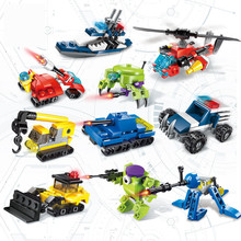 цена на Enlightenment Compatible Conversion Series Building Block Assembly for Military Engineering Fire Robot Model Children Toy
