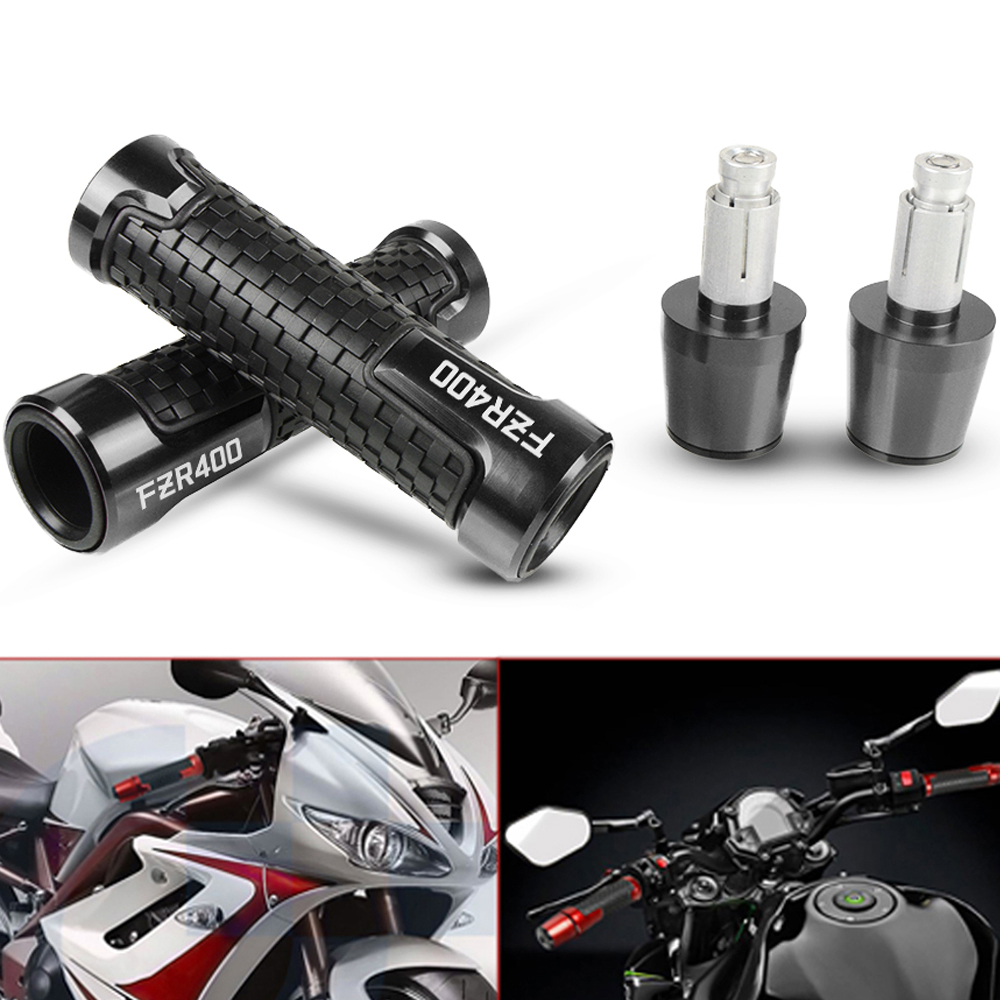 CNC Aluminum Motorcycle Handlebar Grips Handle Grips And Hand Grip Bar Ends For YAMAHA FZR400 FZR 400 1988-1990 1989 Accessories
