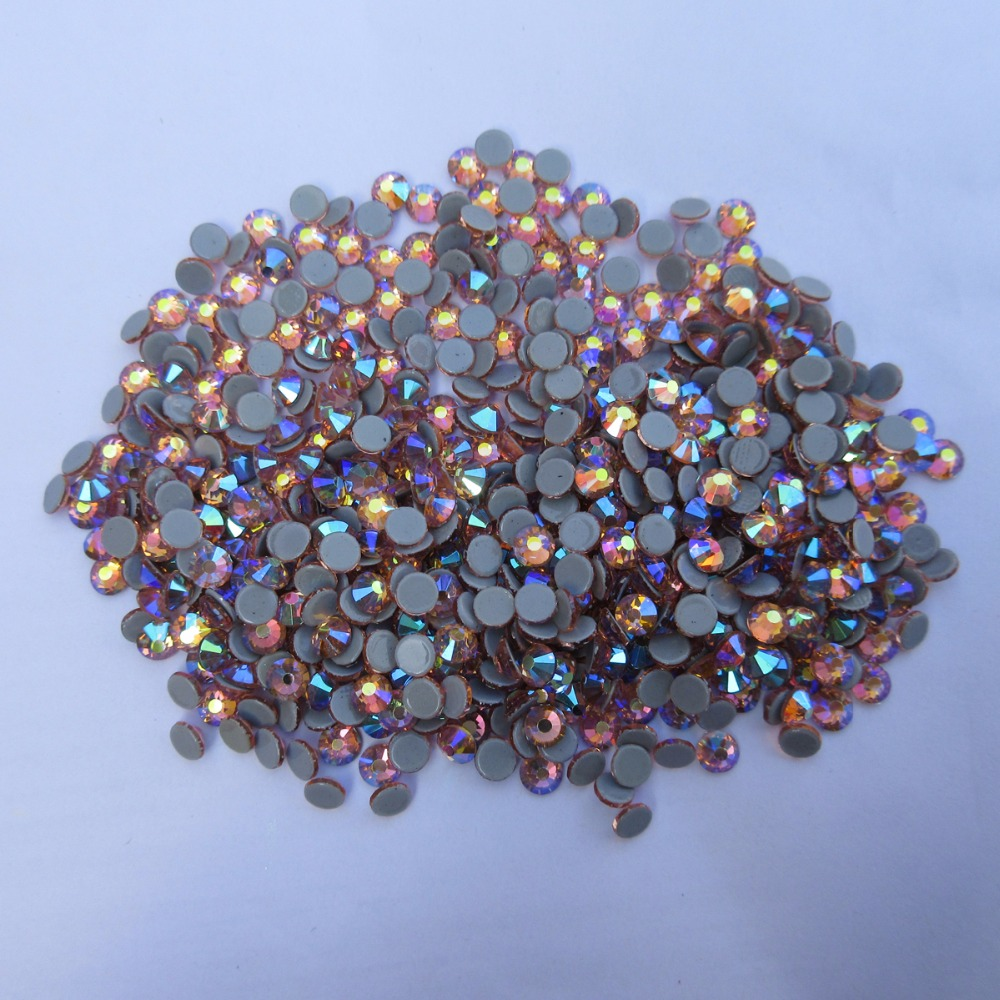 New Champagne AB color SS6 SS30 Hotfix Rhinestone stones Flatback Crystals  Strass Iron On Rhinestones For Clothes-in Rhinestones from Home   Garden on  ... ee1f85e0dfc7