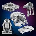 Diy 3d puzzle modelo de juguete de metal de star wars para niños adulto Robot R2-D2 XWing RT-RT Millennium Falcon Nano Pazzle Montar Jigsaw