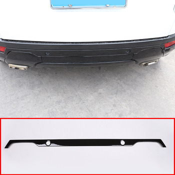 Glossy Black For Land Rover Range Rover Evoque 2012-2019 Car Rear Tail Door Decoration Strip Trim Accessories