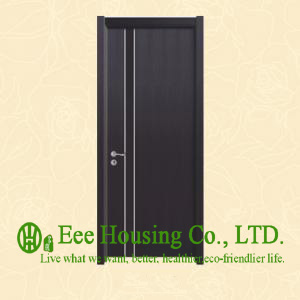 40mm Thickness Timber Veneer Door For Residential Villa, Swing Type Door, Inward & Outward Opening Entry Door, MDF Timber Door