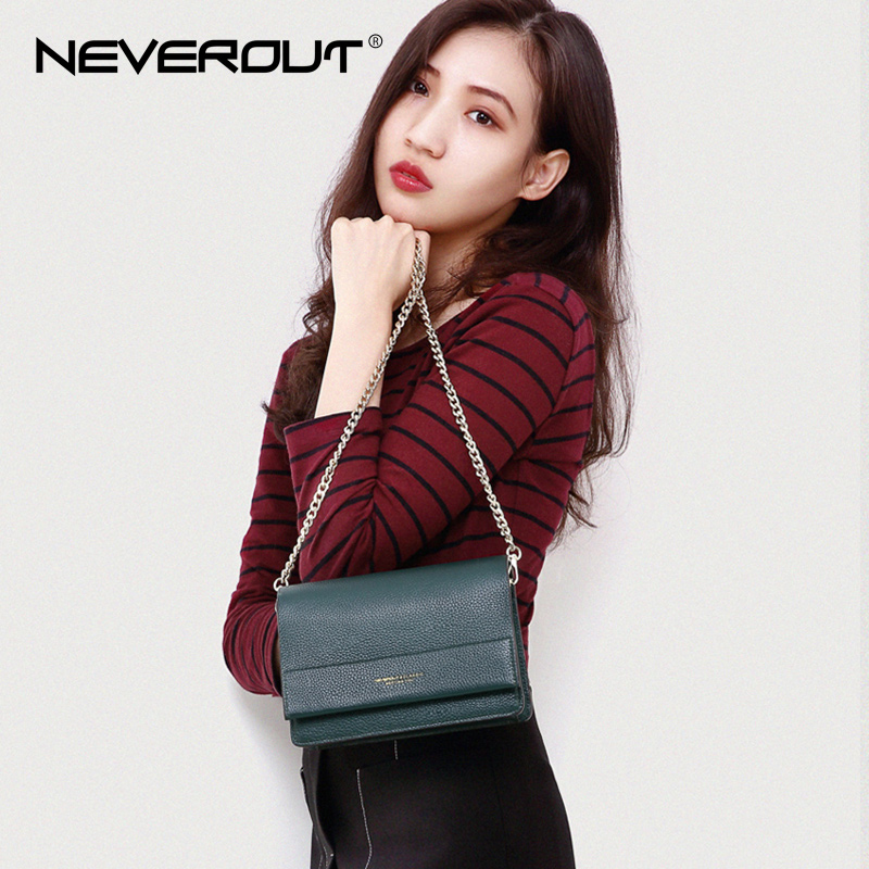 NeverOut 4 Color Genuine Leather Bag Solid Soft Ladies Messenger Bag Fashion Flap Shoulder Sac Cover Bags Crossbody Bags Women neverout new crossbody handbag women messenger bag cover small flap bags fashion shoulder bags simply style genuine leather bag