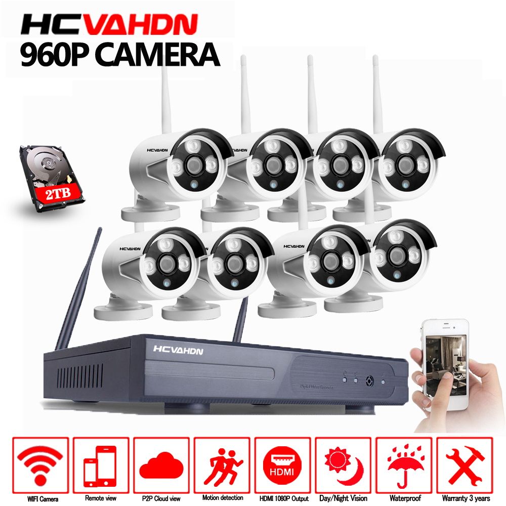 CCTV System Wireless NVR Kit P2P 8CH 8pcs 960P HD Outdoor IR Night Vision Security IP Camera WIFI Video Surveillance System HDDCCTV System Wireless NVR Kit P2P 8CH 8pcs 960P HD Outdoor IR Night Vision Security IP Camera WIFI Video Surveillance System HDD