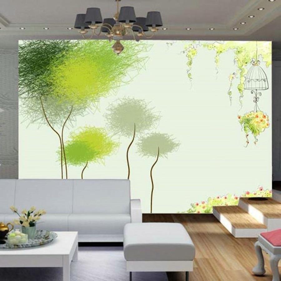 comprar elegante bosquejo rboles de aleteo en el viento rollos papel tapiz de vinilo para paredes d pasillo de la vendimia papel pintado