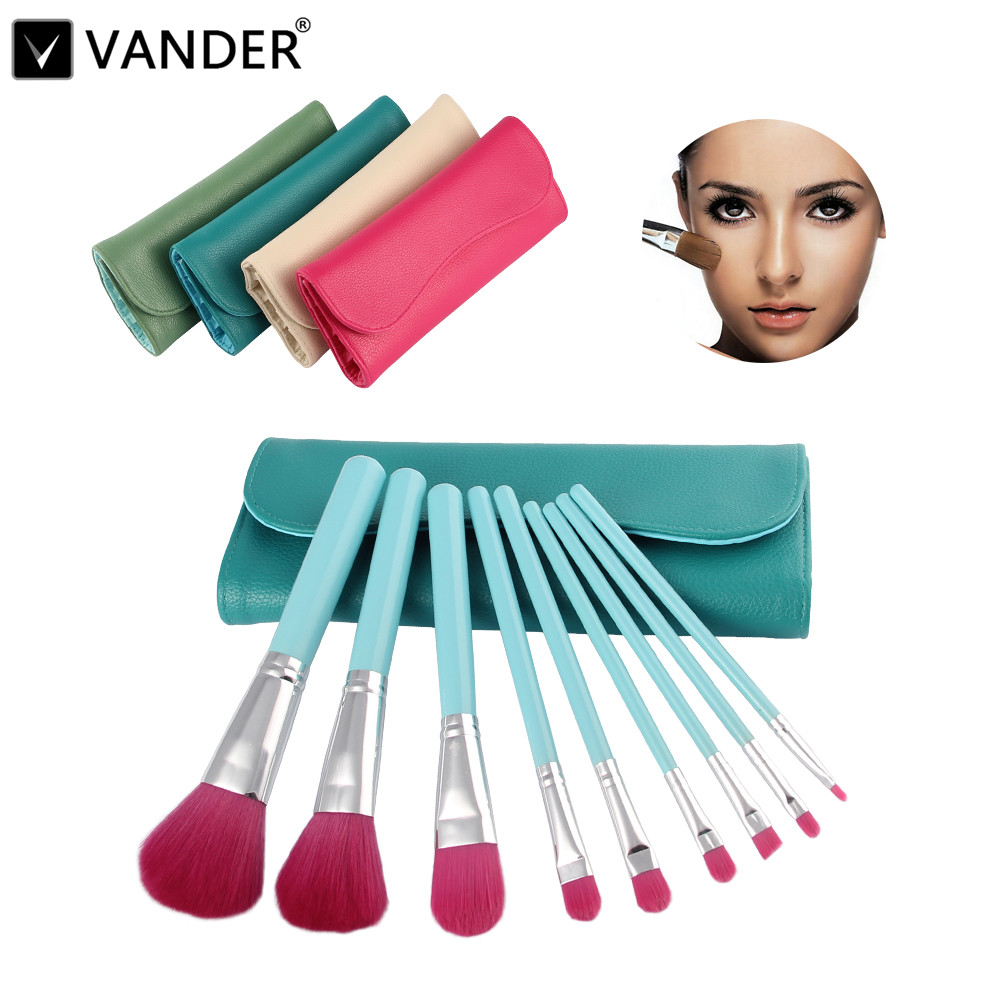 Colors 9Pcs Makeup Brushes Pincel Cosmetics Tools Eyeshadow Powder Eyeliner & Face Makeup Brush Set Blush Soft Kit With Bag Case 24pcs beauty makeup brushes set cosmetics foundation eyeshadow eyeliner lipstick make up blush soft brush bag pincel maquiagem