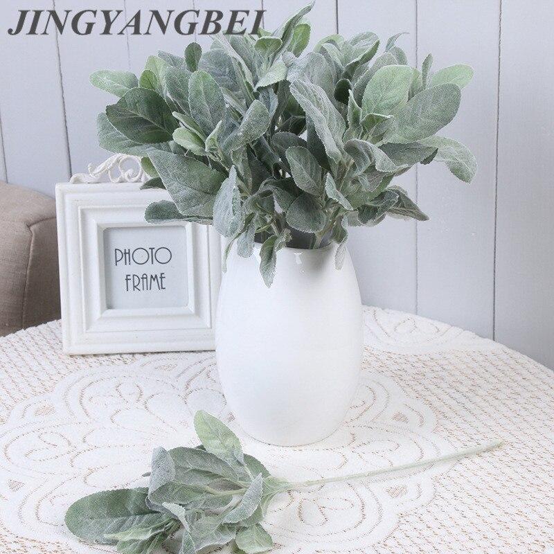 Artificial Silk Rabbit ear plant branch flores fall leaves home Christmas decor wedding decoration Flowers diy arrang ment wreat