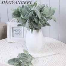 Planta de oreja de conejo de seda Artificial, rama de flores, hojas de otoño, decoración navideña para el hogar, flores decorativas para boda diy, arrang ment wreat