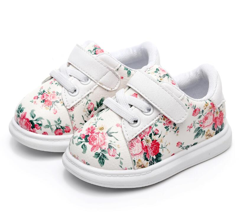 7f1309b824412 Cute Baby Shoes For Girls Soft Moccasins Shoe 2018 Spring Black Flower Baby  Girl Sneakers Toddler Boy Newborn Shoes First Walker