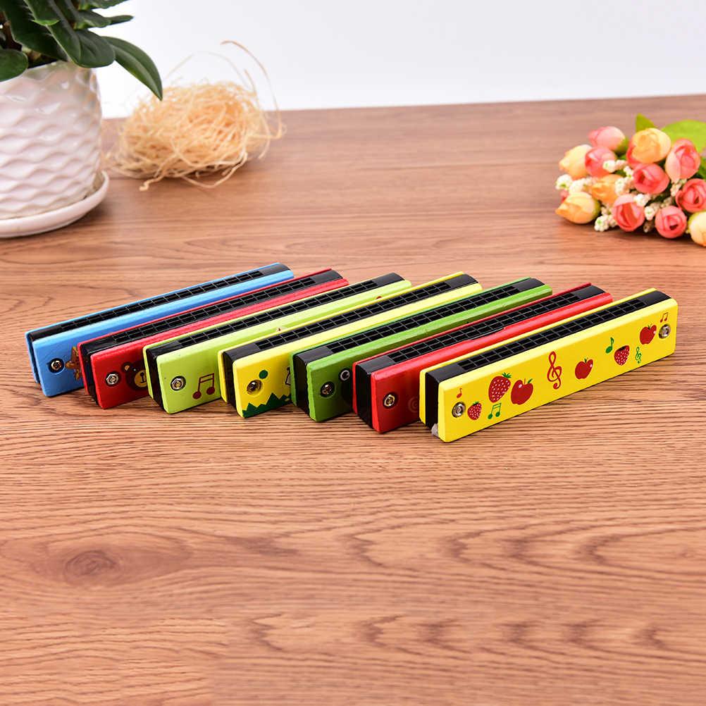 ZTOYL 1 adet komik ahşap armonika çocuklar müzik enstrümanı eğitici çocuk çekici oyuncaklar rastgele renk