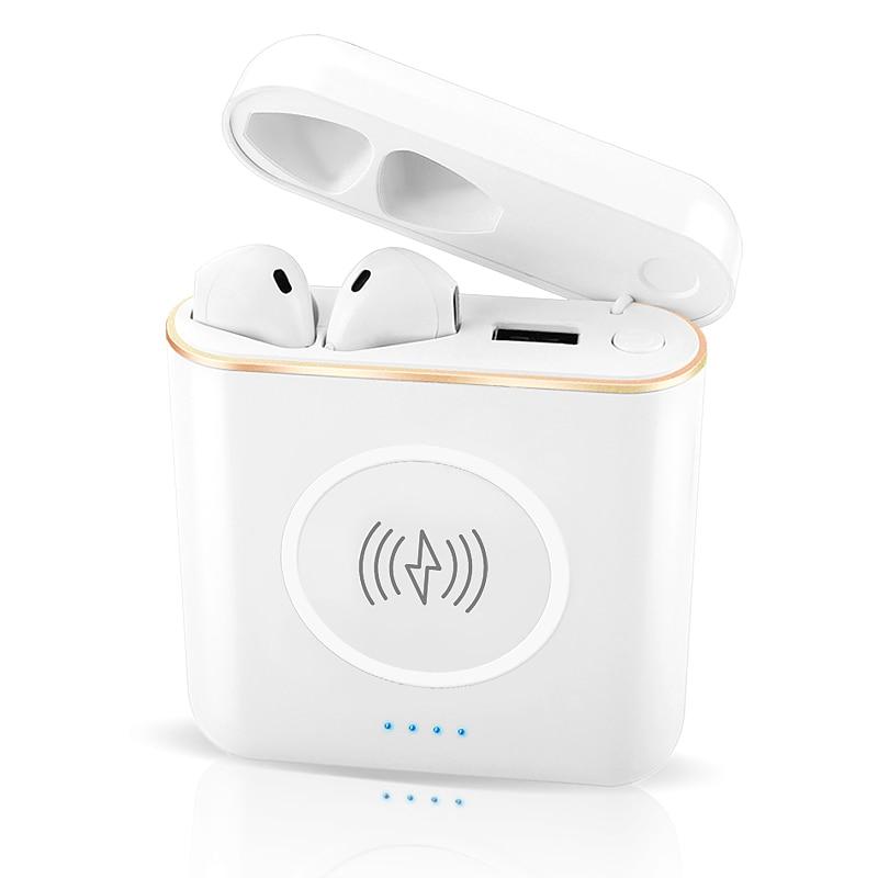 XT6 TWS wireless Bluetooth sports headphones with smart phone wireless charging +5200mAh+charging box noise reduction headphones