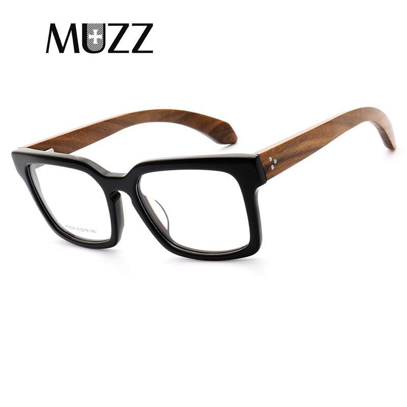 6893c72d618f MUZZ Brand Retro Squar Women Men Eyeglasses Frame High-quality New Vintage  Imitation Wooden Frame Oval Eyeglass Reading Glasses