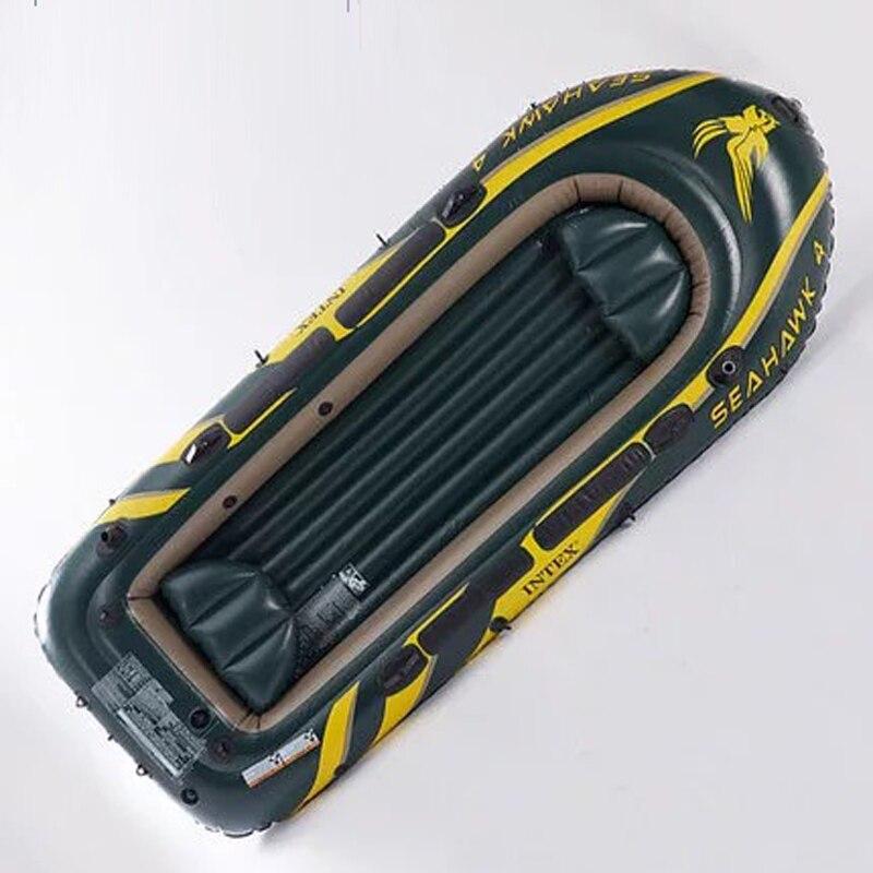 Bateau de pêche à l'aviron en caoutchouc de bateau gonflable de quatre personnes de pvc épais de haute qualité