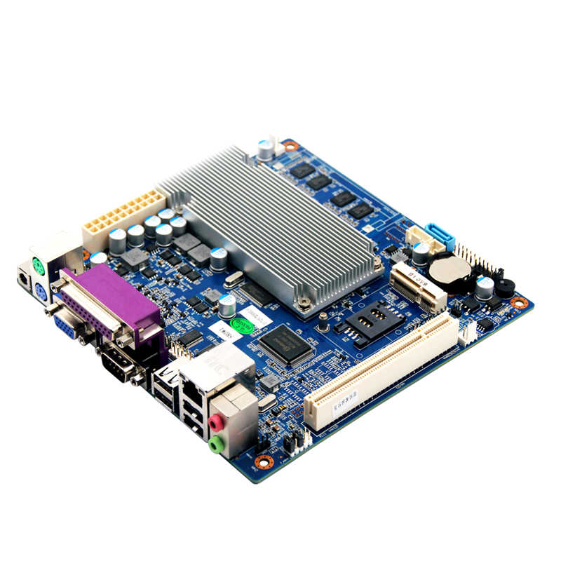 Quạt không cánh mini Bo mạch chủ máy tính N2600/N2800/D2550 Bộ vi xử lý 2G RAM 1 * LAN 5 * COM 3G
