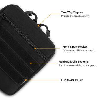 التكتيكية مول حقيبة حقيبة عملية 1000D في الهواء الطلق الملحقات أكياس لحقيبة الظهر سترة العسكرية Airsoft مقاوم للماء الصيد تخزين الحقائب