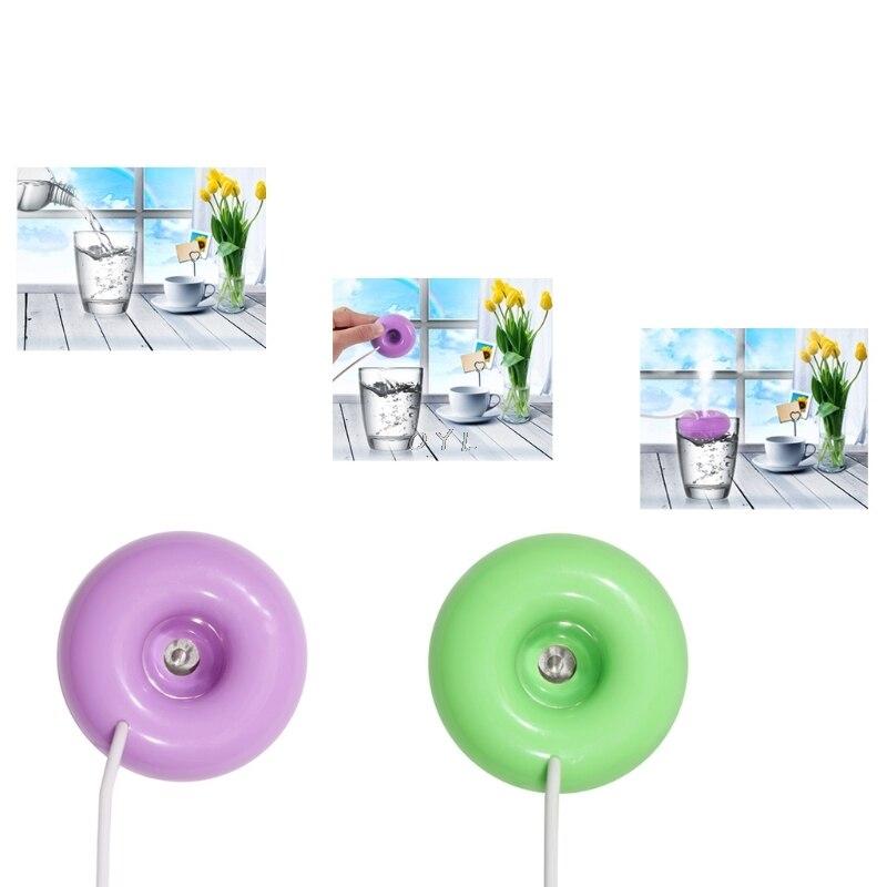 1Pc Mini USB Donut Humidifier Air Purifier Aroma Diffuser Home Office Car Portable New Fashion