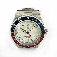 Для мужчин винтаж GMT часы автоматический Дайвинг часы для женщин нержавеющая сталь 20ATM сапфир LuminousBezel Сан Мартин часы в ретро стиле