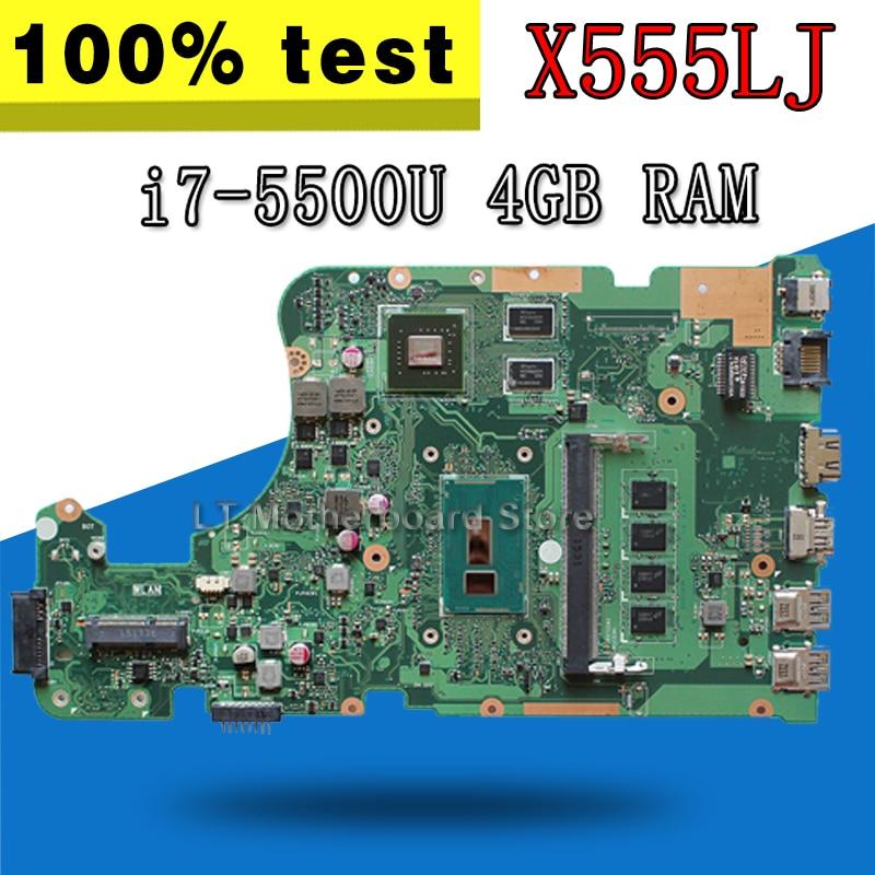 X555LJ Carte Mère 4 gb/RAM i7-5500U 2 gb carte Graphique pour ASUS X555LD X555L X555LP F555LD X555LN W519L X555LDB ordinateur portable Carte Mère