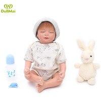 Bebes reborn silicone baby dolls 48cm children soft BJD reborn babies boy dolls lifelike birthday gift toy doll reborn