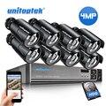 HD 4MP камера видеонаблюдения системы безопасности 4CH 8CH POE NVR с IP набор камер наблюдения водонепроницаемый IP66 H.265 система видеонаблюдения XMEye
