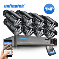 HD 4MP CCTV Security Camera System 4CH 8CH POE NVR With IP Camera CCTV Kit Waterproof IP66 H.265 Video Surveillance System XMEye