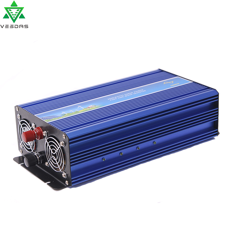 1000W Off Grid Pure Sine Wave Solar or Wind Inverter for 12V/24VDC Battery, Supply Power to 110V/220VAC Applianeces