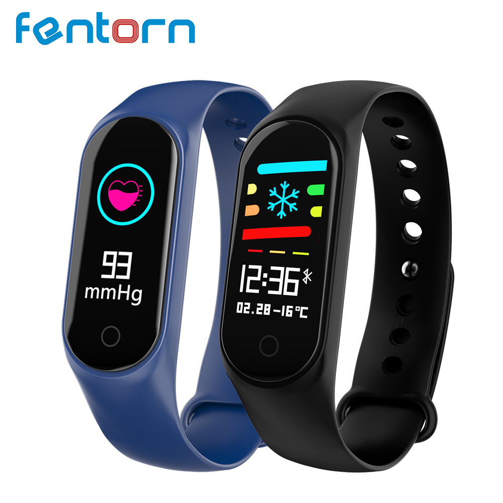 Fentorn Fitness Bracelet Blood Pressure Heart Rate Monitor Watch Activity Tracker Smart band 3 for Xiao Mi Android IOS Phone