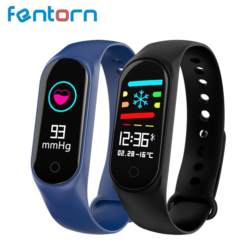 Fentorn Fitness pulsera presión arterial Monitor de frecuencia cardíaca reloj actividad Tracker Smart band 3 para Xiao Mi Android IOS teléfono