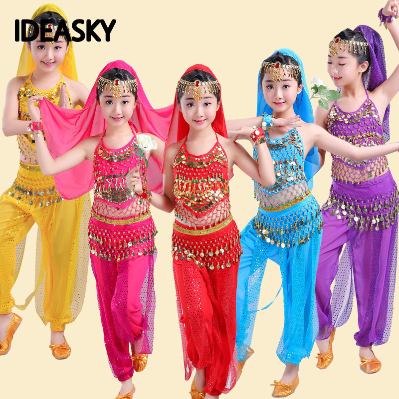 Belly Dance Costumes Professional Sexy Oriental Girls Lace Children Costume Danse Orientale Bellydance Enfant Dress For Kids