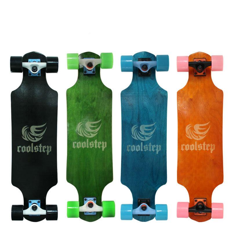 Maple Professional Skateboard Road Longboard Skid Resistance Skate Board 4 Wheel Drop Downhill Speed Mini Long Board