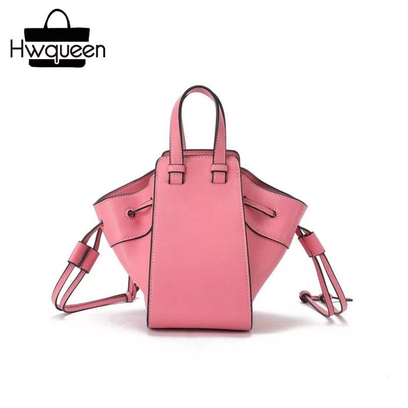 7adc95ca4887 Роскошная дизайнерская натуральная кожаный шнур, женская маленькая  сумка-трапеция, цветная женская летняя сумка