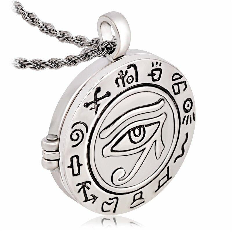 À la mode Religieux Oeil Égyptien de Ra Horus Udjat Photo Boîte Médaillon Pendentif Collier