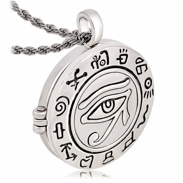 Trendy religious egyptian eye of ra horus udjat photo box locket trendy religious egyptian eye of ra horus udjat photo box locket pendant necklace aloadofball Images
