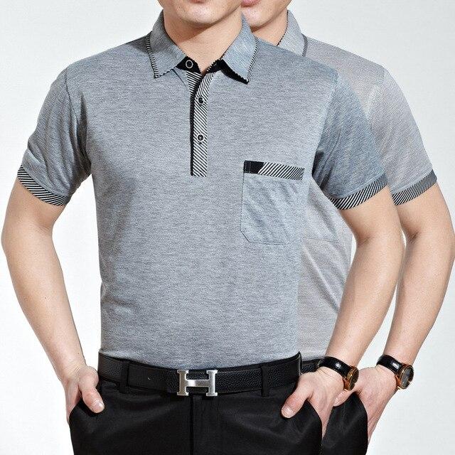Hombres polo camisa de boutique de los hombres de negocios camisas de manga corta de solapa sólido cómodo, transpirable polo sudaderas Caliente salvaje de los hombres