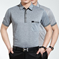Men polo shirt boutique men's business Short sleeve shirts lapel solid comfortable, breathable polos shirt Hot wild men