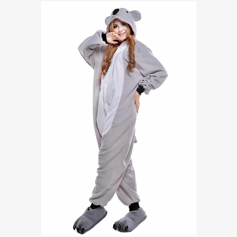 cc332518ca Autumn spring winter flannel couples women animal pajamas one piece cartoon sleepwear  adult onsies